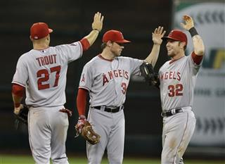 Mike Trout, Scott Cousins, Josh Hamilton