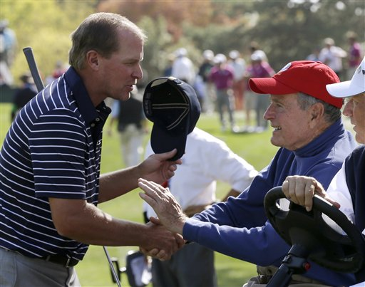 Steve Stricker, George H. W. Bush