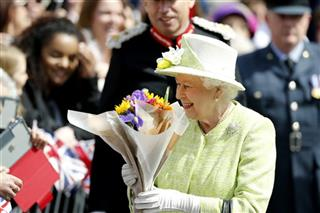 APTOPIX Britain Queens 90th