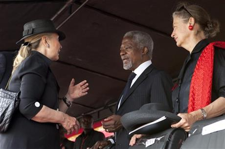 Hillary Rodham Clinton, Kofi Annan, Nane Lagergren