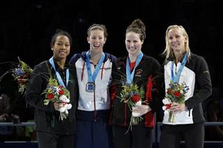Lia Neal, Allison Schmitt, Missy Franklin, Jessica Hardy