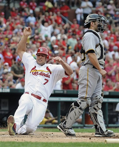 Matt Holliday, Michael McKenry, Carlos Beltran
