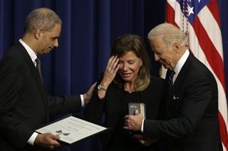 Joe Biden, Eric Holder, Paige Baitinger