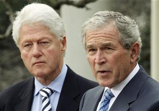  Bill Clinton, George W. Bush