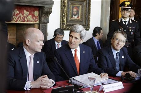 John Kerry, Giulio Terzi, William Hague