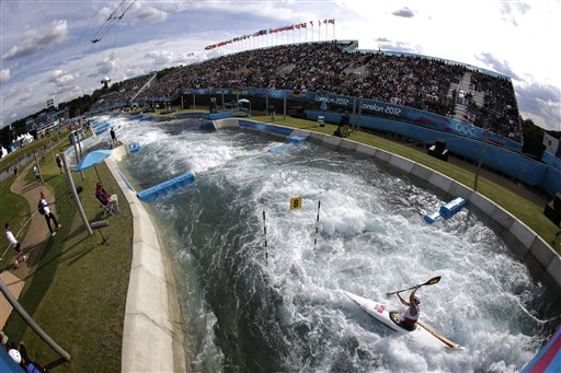 APTOPIX London Olympics Kayak Slalom Women