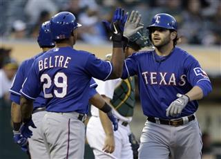 Mitch Moreland, Adrian Beltre
