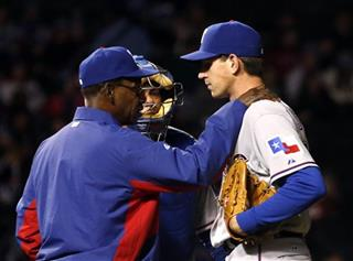Ron Washington, Geovany Soto, Nick Tepesch