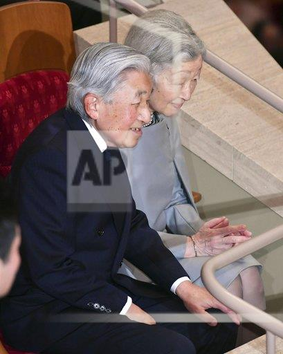 Emperor and empress at music concert conducted by Seiji Ozawa