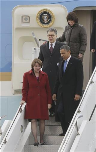 Barack Obama, Amy Jean Klobuchar, Al Franken, Betty McCollum