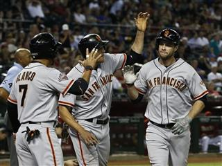 Brandon Belt, Hunter Pence, Gregor Blanco