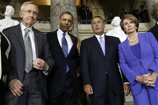 Barack Obama, Harry Reid, John Boehner, Nancy Pelosi