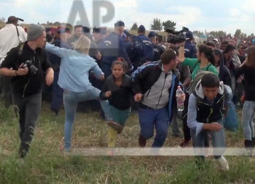 Hungary Migrant Camerawoman