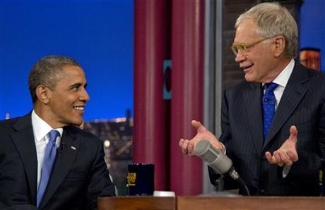 Barack Obama, David Letterman