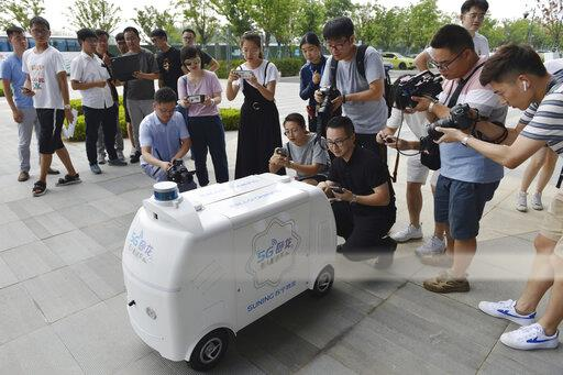 CHINA CHINESE JIANGSU NANJING SUNING 5G UNMANNED DELIVERING