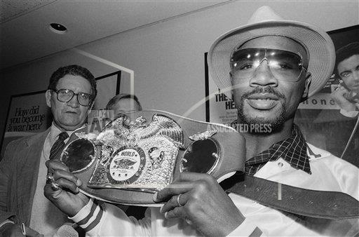Watchf Associated Press Sports Boxing Massachusett United States APHS124032 Hagler With Belt 1988