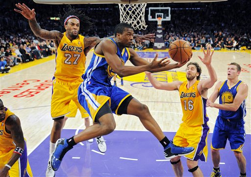 Harrison Barnes, Jordan Hill, Pau Gasol, David Lee
