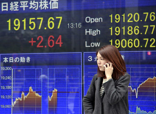 Asian stocks mostly higher ahead of Fed's rate decision