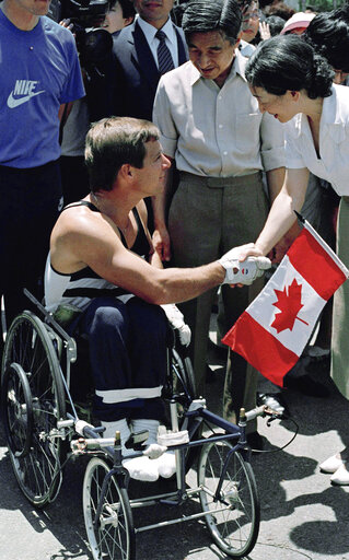 Princess Michiko with Rick Hansen