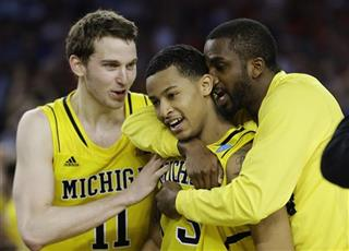 Nik Stauskas, Trey Burke, Corey Person