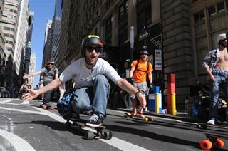 Broadway Skate Board Race