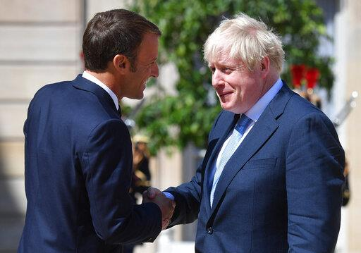 Emmanuel Macron Meets Boris Johnson - Paris