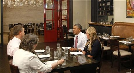 Barack Obama, Wyndi Austin, Paula Matyas, Jim Heath, Janet Jones