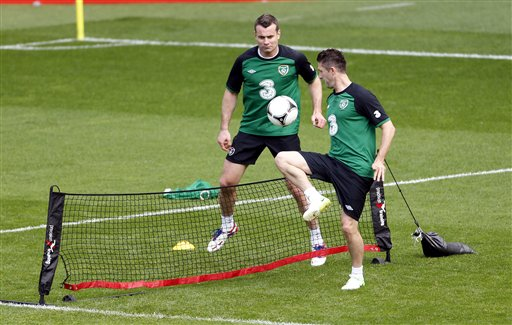 Soccer Euro 2012 Training Ireland