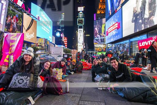 APTOPIX The World's Big Sleep Out in Times Square 2019