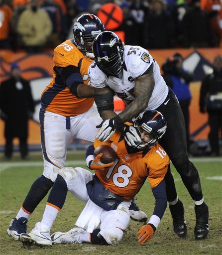 Peyton Manning, Terrell Suggs, Ryan Clady