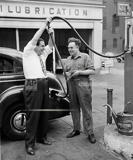 Watchf Associated Press Domestic News  New York United States APHS103548 FDR Gasoline Rationing 1942