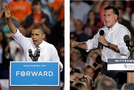 barack obama, mitt romney