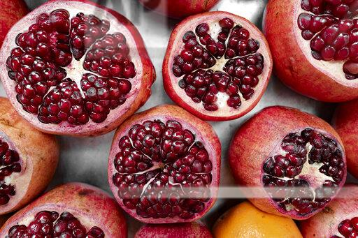 Pomegranate, from above