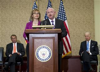 Gabrielle Giffords,  Mark Kelly, Joe Biden, John Boehner