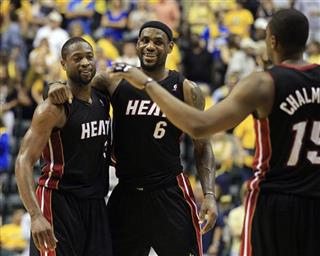 Dwyane Wade, LeBron James, Mario Chalmers