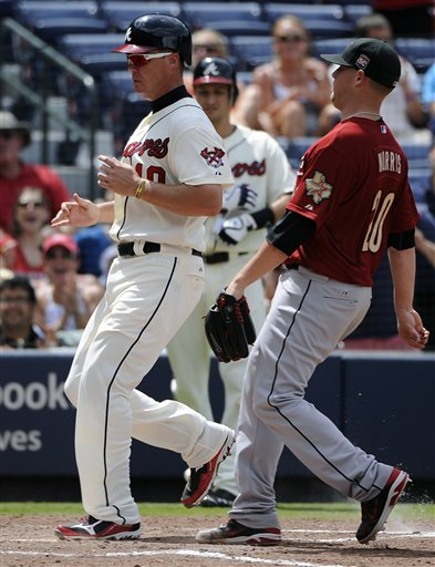 Chipper Jones, Bud Norris