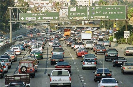 Watchf AP A  CA USA APHS272586 Los Angeles Evening Commuter Traffic