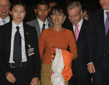 Thailand Myanmar-Suu Kyi's World Tour