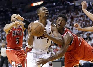 Jimmy Butler, Carlos Boozer, Chris Bosh
