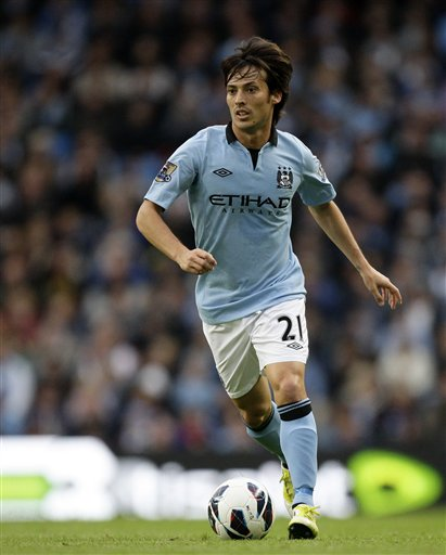 Manchester City&#039;s David Silva