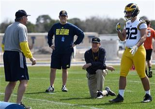 Jim Harbaugh, Don Brown, Cheyenn Robertson