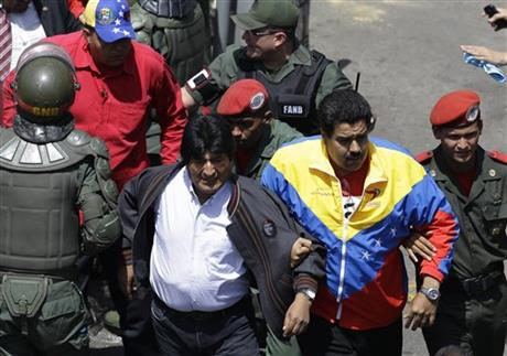 Nicolas Maduro, Evo Morales