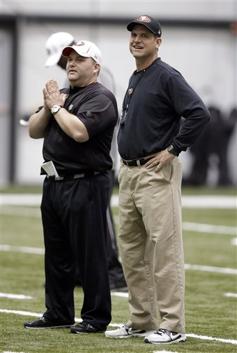 Jim Harbaugh, Greg Roman