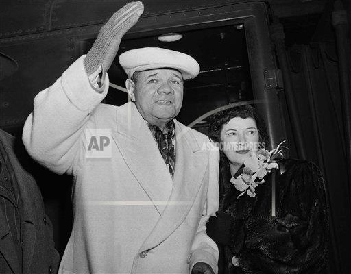 Watchf Associated Press Sports Professional Baseball (American League) New York United States APHS176440 Babe Ruth And Wife 1948