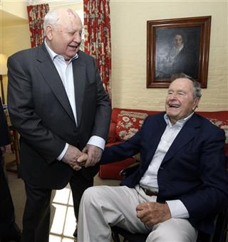 Mikhail Gorbachev, George H.W. Bush