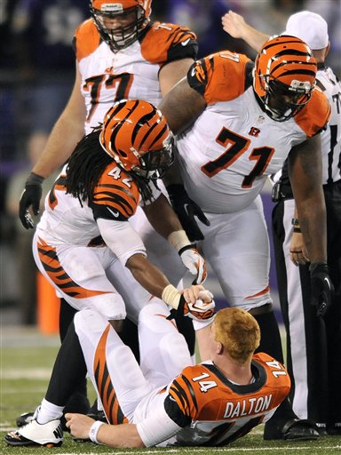 BenJarvus Green-Ellis, Andre Smith, Andy Dalton