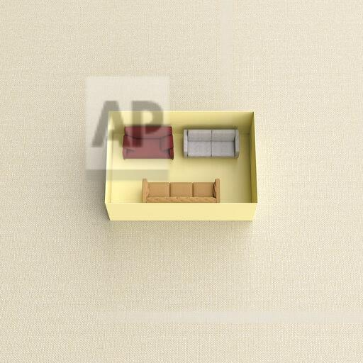 3D rendering, Different chouches in yellow box on beige background