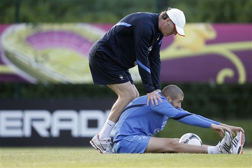 Soccer Euro 2012 Training France