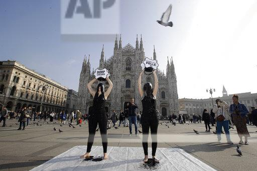 Italy Fashion Protest