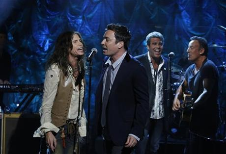 Steven Tyler, Jimmy Fallon, Bruce Springsteen